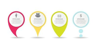 Set of Circle Pointers Infographic Business Element vector