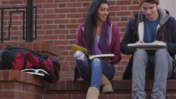 portrait d'étudiants à l'automne video