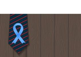 Blue Ribbon Symbol of World Prostate Cancer Awareness Day Concept Men Healthcare Concept vector