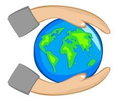 protegiendo el mundo vector