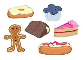 Tasty Pastries and Cakes vector