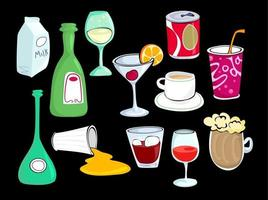 Tasty Beverage Collection vector