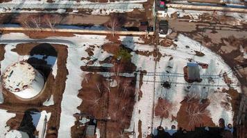 Oil storage base aerial survey video