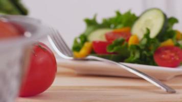 färska grönsaker och sallad video