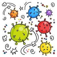 Microscopic Corona Viruses vector