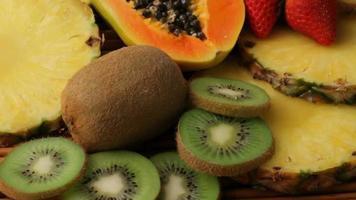fond de fruits tropicaux video