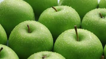 maçãs frescas, fundo de frutas video