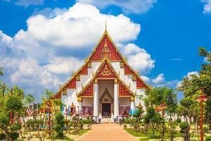 phra mongkhon bophit en ayutthaya, tailandia foto