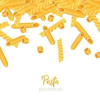 Vector background with pasta