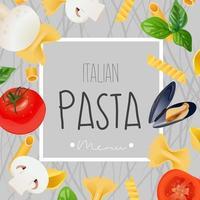 Italian menu design Vector realistic template