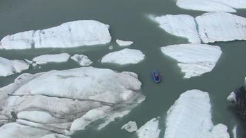 Kayaking by icebergs and glacier, Alaska video