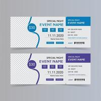 Event party ticket template vector