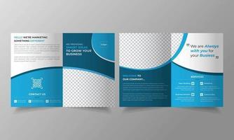 Business trifold brochure template design vector