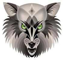 Vector image of a wolf