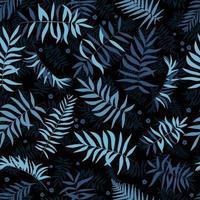 Seamless bright leaves and small flowers Tropical background Print for web fabric and wrapping paper vector