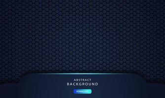 dark abstract dimension on hexagon texture background vector
