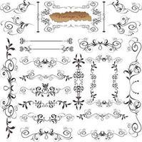Vintage calligraphic elements design vector