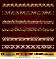 Border frame design elements vector