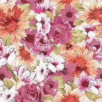 encantador diseño de patrón de flores vector
