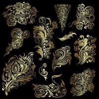 Decorative vector swirls design