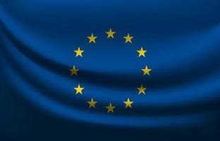 bandera ondeante de la unión europea vector