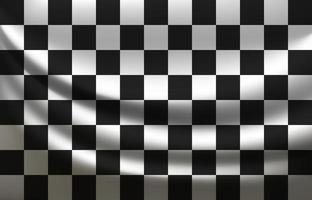 Waving racing checkered flag vector