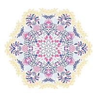 ornamento redondo mandala floral vector