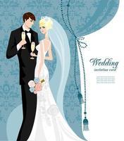 Wedding anniversary invitation template vector