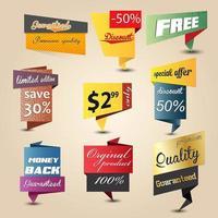 Vintage sale design elements vector