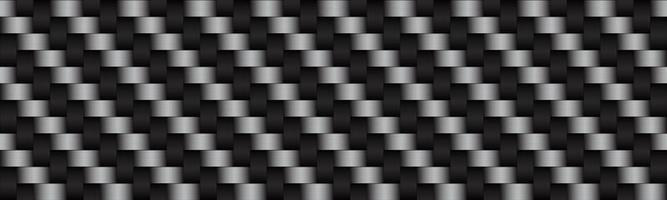 Carbon black and grey abstract header Modern metallic stainless steel look banner Seamless pattern background Vector illustration