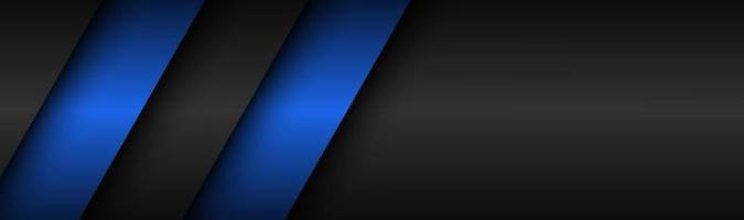 Abstract black and blue modern material header Technology banner Vector abstract widescreen background