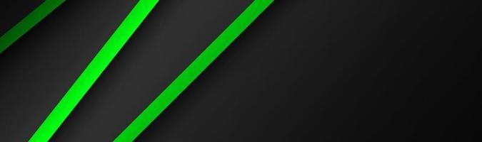 Abstract vector header with green and black layers above each other Modern design banner for your business Vector illustration with oblique stripes and lines