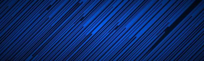 Dark abstract header with blue and black slanting lines Striped pattern Parallel lines and strips banner Diagonal fiber vector illustration