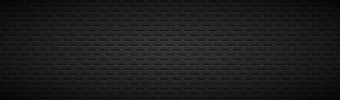 Geometric polygons header Abstract black metallic stainless steel banner Vector illustration background