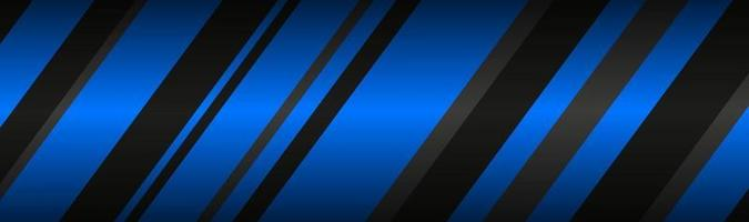 Abstract header with black and blue lines Modern material technology banner Vector abstract widescreen background