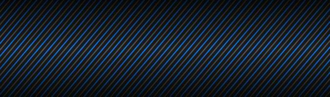 Encabezado abstracto oscuro con rayas azules y grises, líneas diagonales y tiras, banner de ilustración vectorial vector