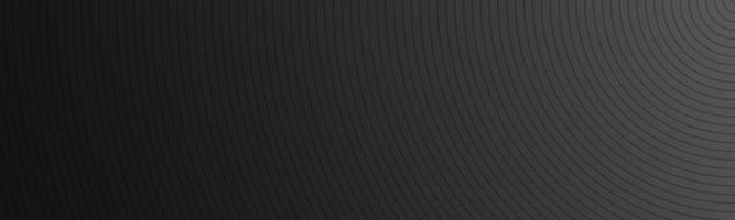 Modern black abstract header The look of stainless steel banner Circular lines on a black background vector