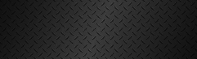 Black metal plate texture header Stainless steel background with gradient Modern vector illustration banner