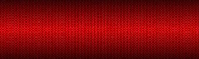 Abstract dark red geometric hexagonal mesh material header Perforated metallic technology banner Vector abstract widescreen background
