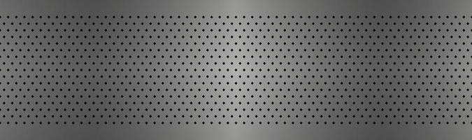 Perforated metal texture header Aluminium stainless steel grating abstract background Simple vector banner