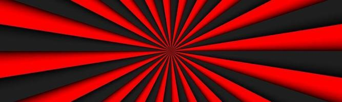 Black and red abstract header Black and red lines banner Bright pattern simple vector illustration