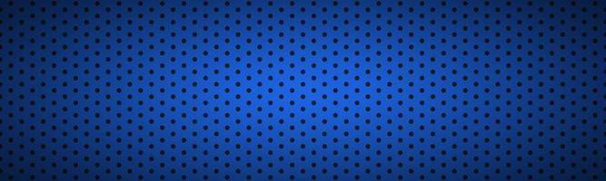 Fondo de ilustración de vector de tecnología de encabezado perforado metálico azul oscuro estructurado