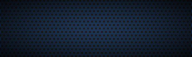 Black and blue geometric polygons header Abstract black metallic banner Modern vector illustration background