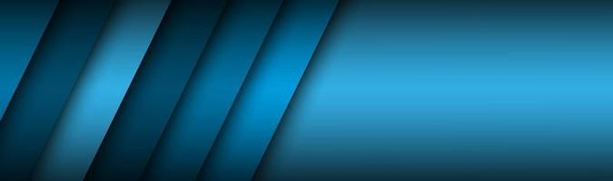 Abstract header with blue layers above each other Modern design banner for your business Vector illustration with oblique stripes and lines