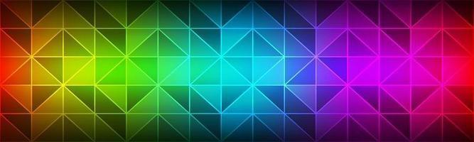Color spectrum modern header Polygon geometrical texture banner Triangular mosaic Modern creative design temlates vector