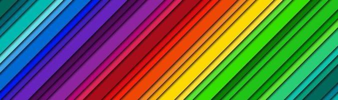 Abstract modern bright header with colored oblique lines Color spectrum banner Colorful striped pattern background Modern vector illustration