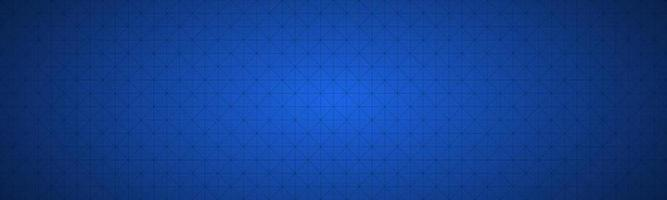 Simple blue vector header composed of a triangular mesh Modern seamless pattern banner background