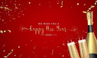 Happy 2022 New Year Greeting Card vector