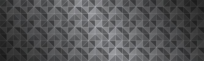 Abstract black and grey header composed of triangles with different transparency Modern vector banner Metallic look background