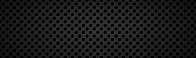 Encabezado metálico negro perforado banner de acero inoxidable abstracto simple ilustración vectorial vector